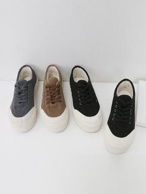 Thin Corduroy Sneakers (4cm)