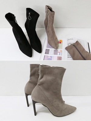 Rack Suede Ankle Boots (9cm)