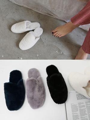 Mont Fur Slippers (1cm)