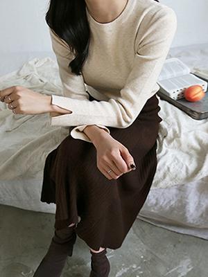 Marron Sleeve Knit