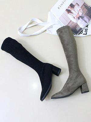 Koran Suede Long Boots (6cm)