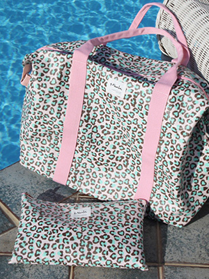Pink Leopard large Bag