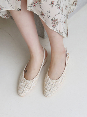 Jukle Ratan Sling backs (4cm)