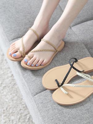 Olive Twiddle Flip Flop (1.5cm)