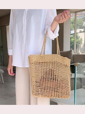 Kantz Square Raffia Bag