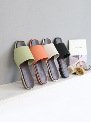 ★ Fitting ★ Mute simple Slippers (2cm) (30% OFF)