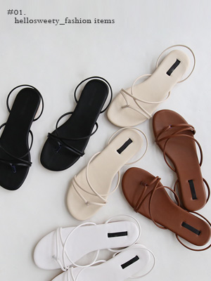 Penny Strap Sandals (1.5cm)